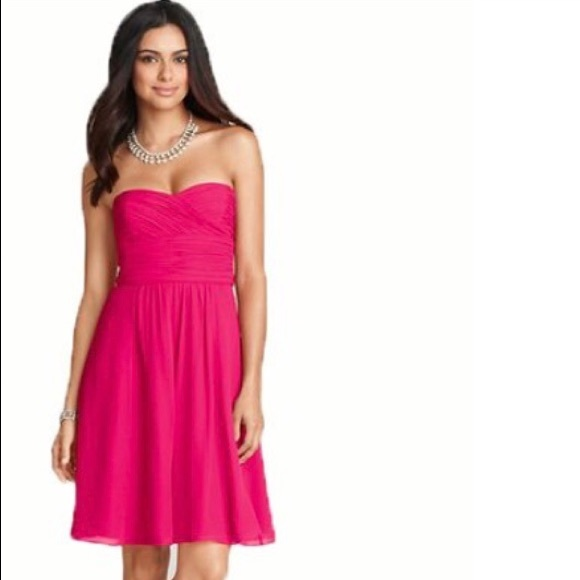 Ann Taylor Dresses & Skirts | Ann Taylor Sweetheart Pink Cocktail ...